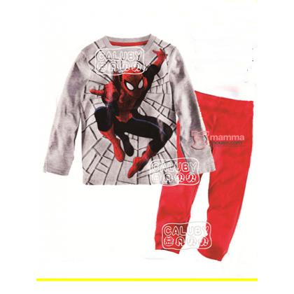 Baby Pajamas - Spiderman Grey Pajamas (yr 8-12)