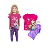 Baby Pajamas - Anna Elsa Purple Pants Short