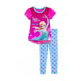 Baby Pajamas - Anna Elsa Shine Pink Short