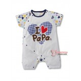 Baby Clothes - Romper Love Papa Heart (short or long sleeves)