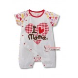Baby Clothes - Romper Love Mama Heart (short or long sleeves)