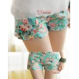 Maternity Shorts - Flora Green Shorts